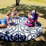 KORERO Maori Design Mat Black White Mat, Outdoor, Fashion, Classroom, School Mats