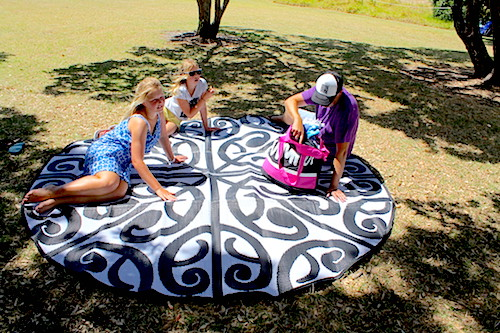 KORERO Maori Design Mat Black White Mat, Outdoor, Fashion, Classroom, School Mats picnic
