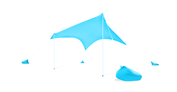 Otentik Light Blue Sunshade Beach Shelter