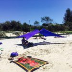 Otentik Large purple a frame beach sunshade