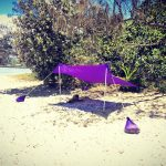 Otentik Large purple2 beach sunshade