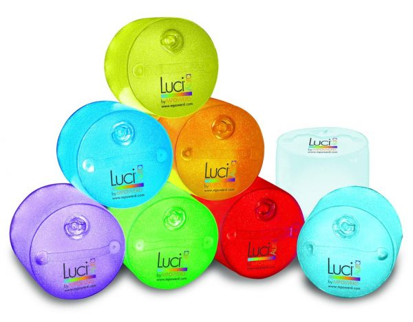 Luci Solar Lantern - inflatable, multi colour, waterproof, compact light for playtime