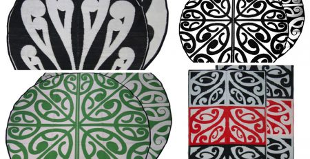 Easy Care, Cultural NZ Maori & Pacific Recycled fFoor Mat designs