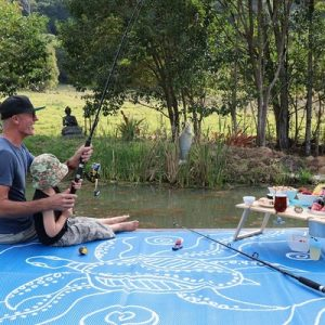 Turtle Journey Blue White Recycled Mat Outdoors Picnic