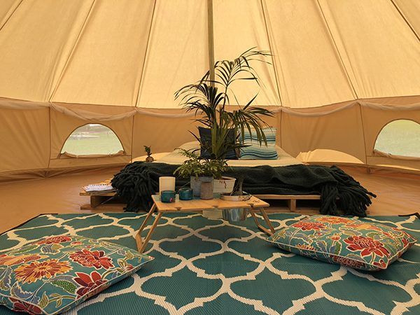 Moroccan Designed Recycled Mat Glamping Products with Summer Picnic WIne Table Banquet