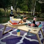 Banquet Summer Picnic Table Blue Bay Purple Moroccan Outdoor Mat
