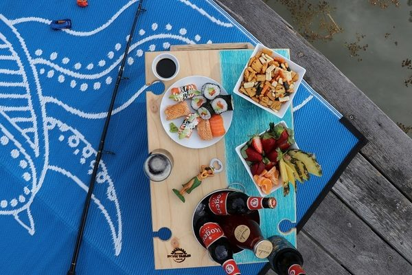 Banquet Summer Picnic Table Blue Bay Turtle Recycled Mat