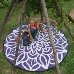 GKOZ55B Mandala Recycled Mat Purple White Backyard