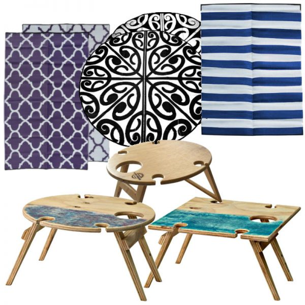 Summer Wine Picnic Table recycled Outdoor Mat Combo 2