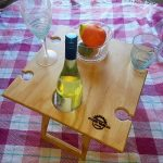 Natural Square Summer Picnic Tables