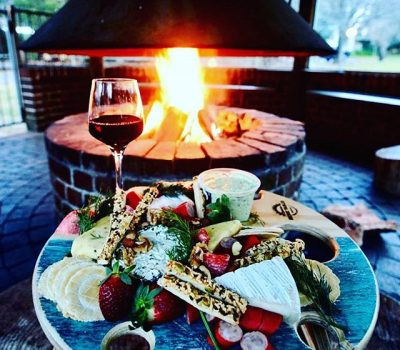 Summer Picnic Wine Table Fire Place Platter