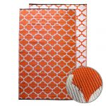 GKOZ399A Moroccan Designed Recycled Mat Orange Outdoor Campng Classroom Mat