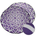 GKOZ55B Mandala Recycled Mat Purple White