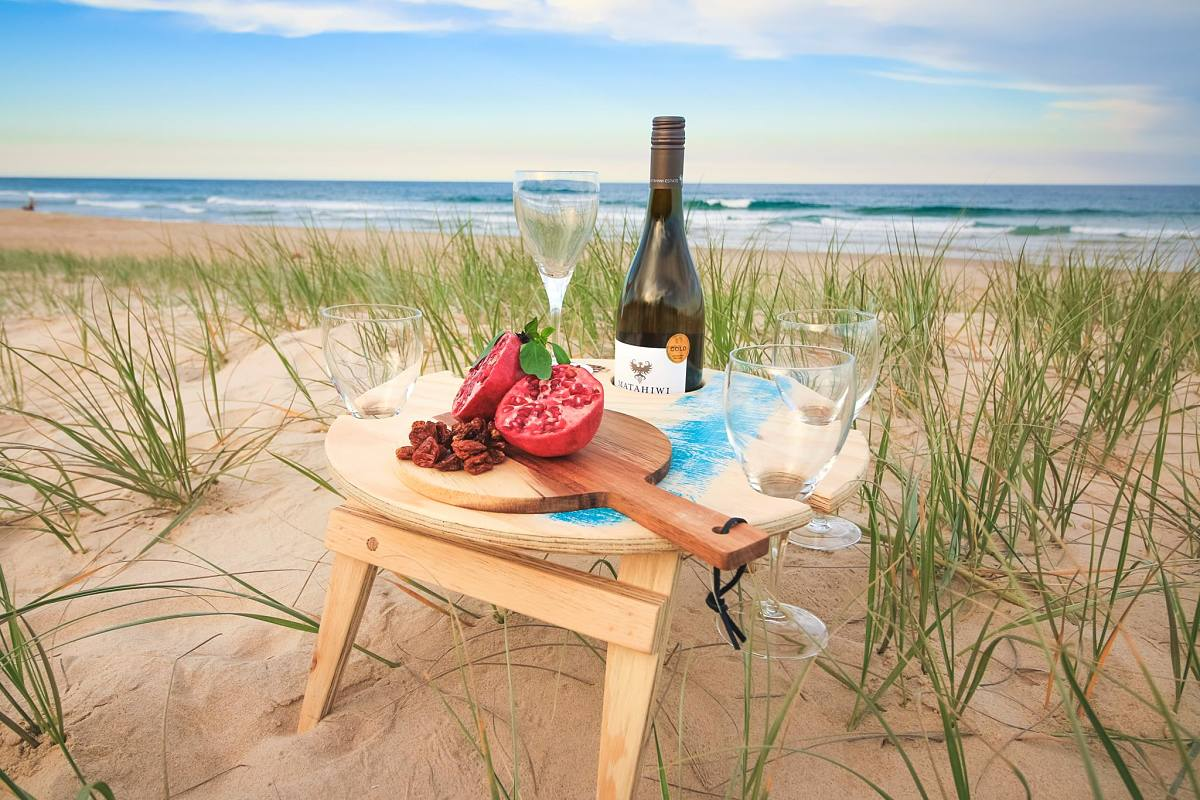 Handmade Portable wooden wine table camping gear, glamping, outdoor equipment