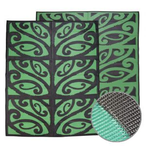 Green Black Maori Play Mat for early childhood centres, classrooms, kindergarten or kapa kaha