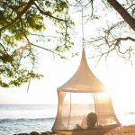 holiday home hammock, luxury glamping tent