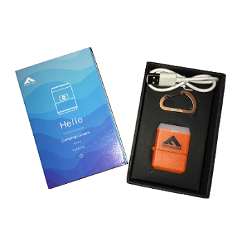 HELIO-Boxed Orange Smallest Rechargeable Lantern Camping Light_