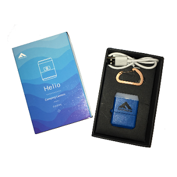 HELIO-Boxed Blue Smallest Rechargeable Lantern Camping Light_