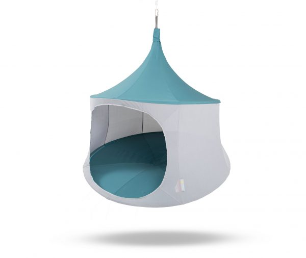 6ft TreePod cabana slate blue hanging chair hybrid tree tent glamping hammock - ultimate day tent egg chair
