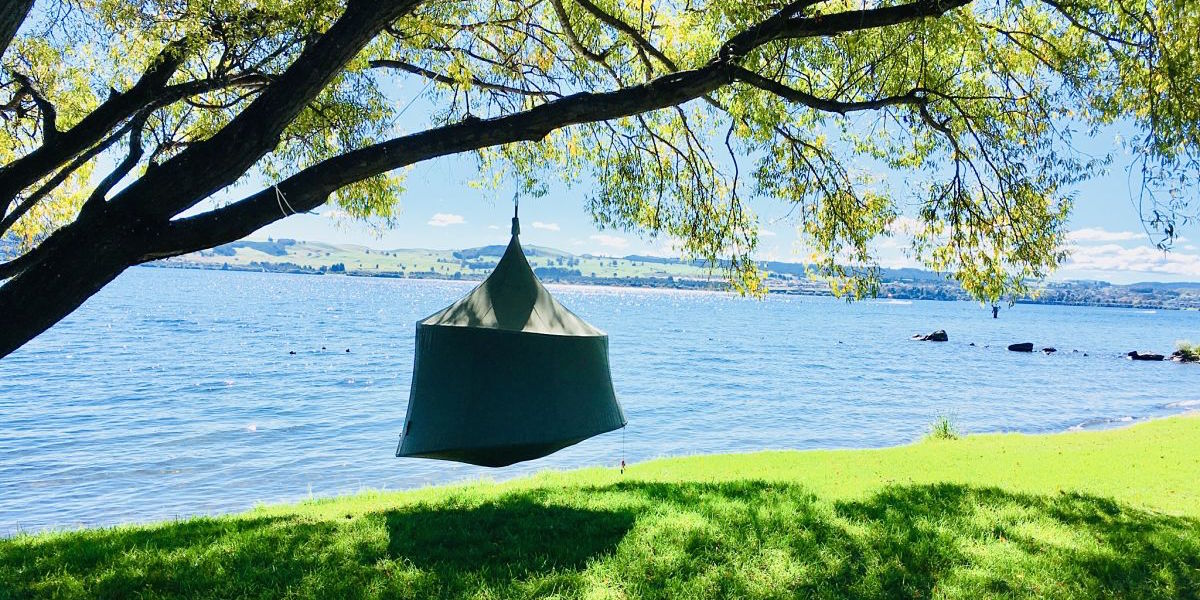 Glamping gear, glamping accessories - TreePod hammock, glamping tree tent, daybed, tree house for relaxing