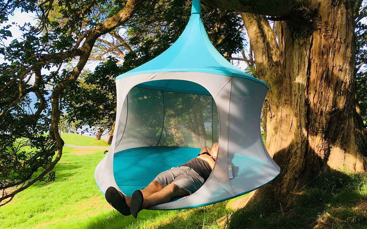 TreePod hammock hanging chair day tent outdoors hanging tent gl&ing & TreePod - all the elements of a hammock day tent u0026 hanging chair in ...