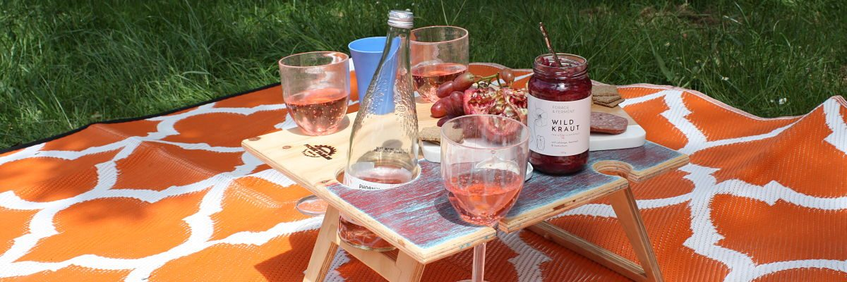 portable wine picnic table, romantic picnic, camping trip, for the beach, unique hand made, portable. foldable, picnic, table
