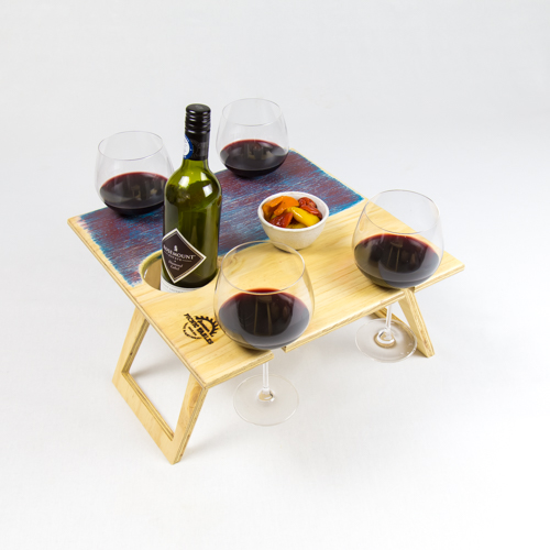 Summer Picnic Wine Table foldable portable compact 23