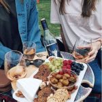 Summer Picnic Wine Table foldable portable compact SS Platter