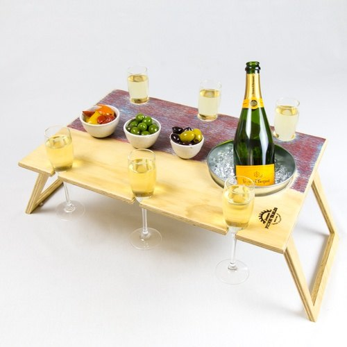 Summer Picnic Wine Table foldable portable compact banquet 15