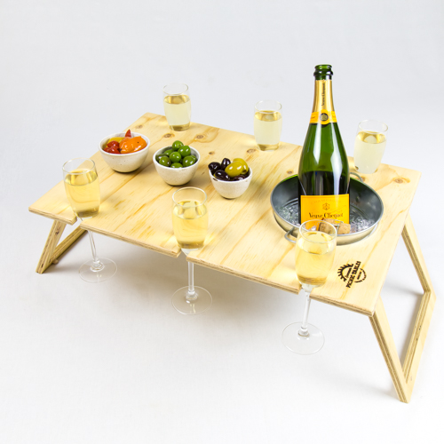 Summer Picnic Wine Table foldable portable compact banquet 9