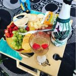 Summer Picnic Wine Table foldable portable compact platter