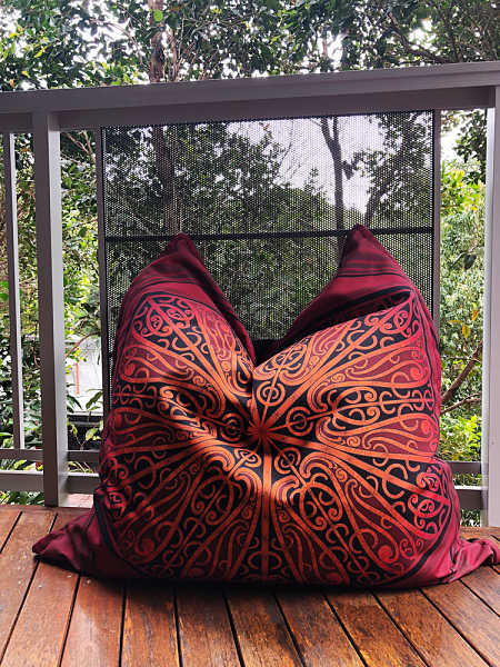 Whaka, Whenua, Maori, Bean, Bag, Cushion, Cover, outside