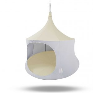 TreePod 6ft cabana ivory hanging tent, hammock, day bed