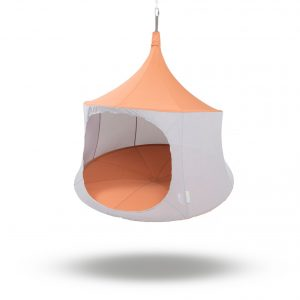 TreePod 6ft cabana terracotta hanging tent, hammock, day bed
