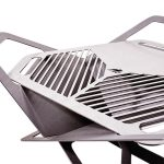 fireflower, fire pit, brazier, stainless steel, camping, glamping, bbq, Detail_no fire_2_opt