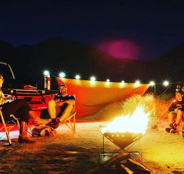 luci, solar, string, lights, camping, glamping
