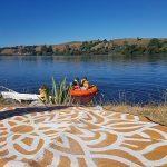 Mandala, Recycled Mat, Waterskiing, Lake, Picnic