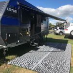 Caravan, Motorhome, Annex, Outdoor Mats – diamond Black grey