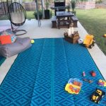 Caravan, Motorhome, Annex, Outdoor Mats – diamond Blue teal outdoor mat