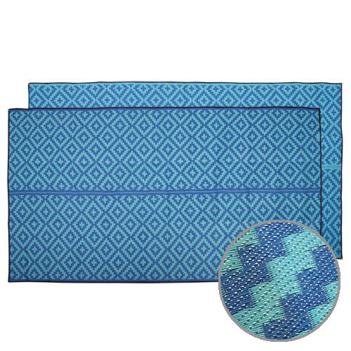 Caravan, Motorhome, Annex, Outdoor Mats - diamond blue teal