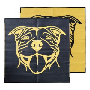 Staffy dog, Outdoor, colourful, durable, four-legged, mat