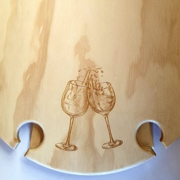 Cheers, wine glasses, Summer, foldable, Picnic, Wine, Table, round, detail