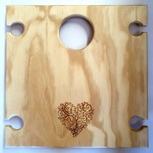 Heart, Summer, Picnic, Portable, Wine, Table, square, romantic picnics, mothers day, anniversary