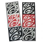 Mangopare, runner, hallways, entrances, red, black, white, reversible, Maori design