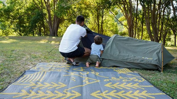 Life in the great outdoors, recycled, plastic, picnic, beach, camping, mats