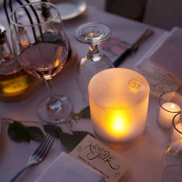 Luci, mini, candle, rechargeable, solar, lantern, romantic, dinner