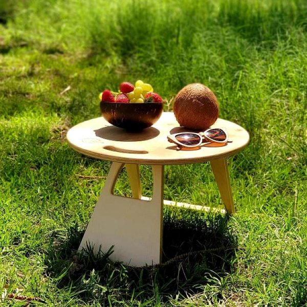 Ohana, round, Portable, Foldable, Picnic, Table, gift, romantic picnic, mothers day, anniversary