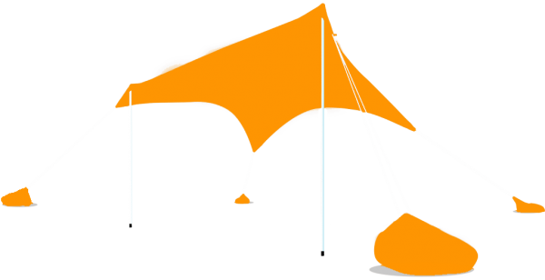 Otentik, Orange, Large, Sunshade, Beach, Shelter, Tent