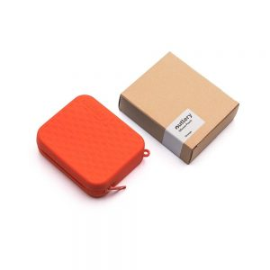 Outlery, silicone, pouches, reusable, travel, cutlery, orange