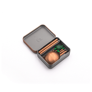 outlery, reusable, travel, cutlery, set, rose, gold, compact, portable, folded, packaged